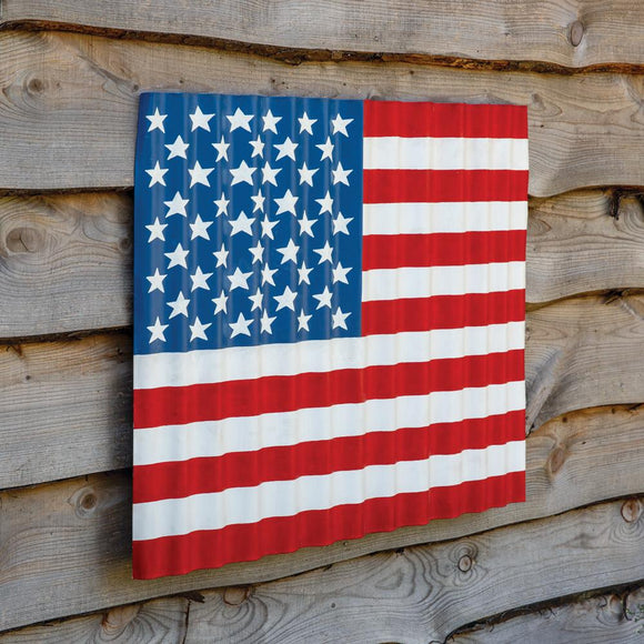 Corrugated Wave US Flag - Countryside Home Decor