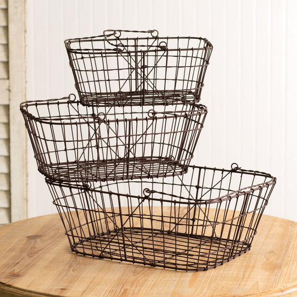 Set of 3 Matilda Wire Baskets