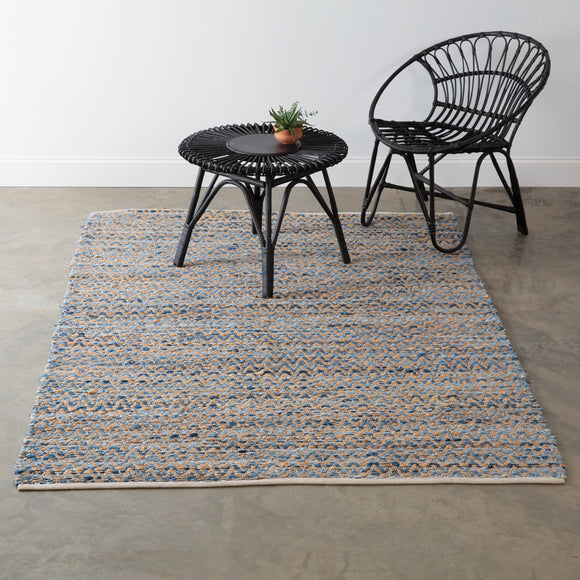 Maui Handwoven Denim Area Rug