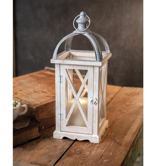 Wood and Metal St. Claire Lantern - Countryside Home Decor
