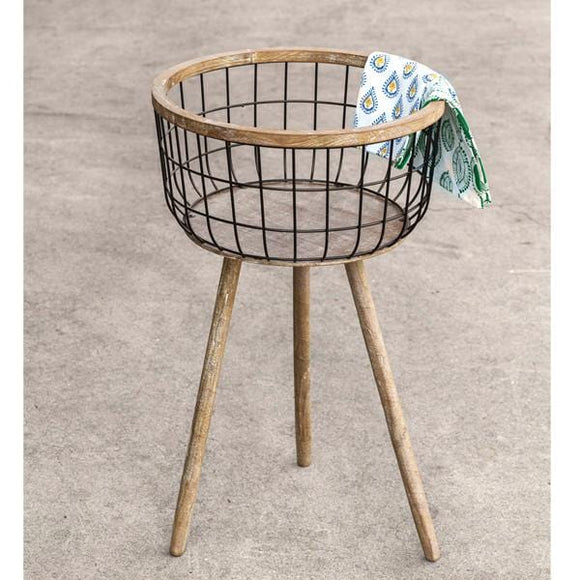 Standing Storage Basket - Countryside Home Decor