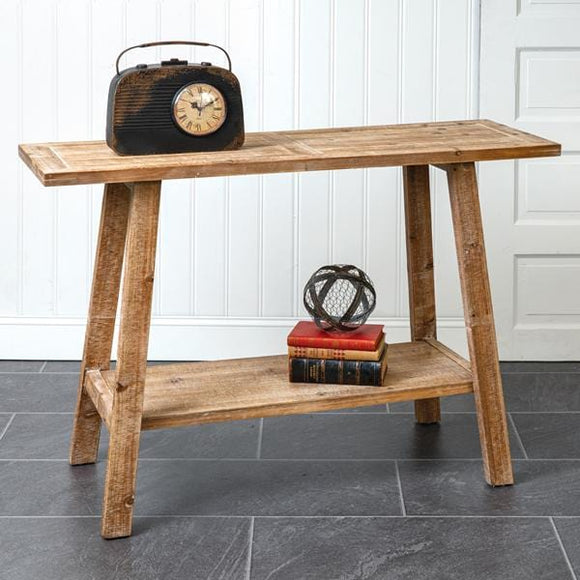Two-Tier Wooden Side Table - Countryside Home Decor