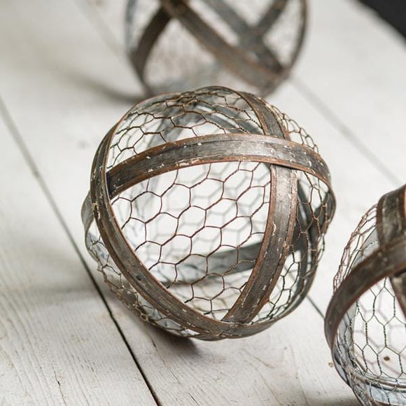 Chicken Wire Metal Ball - Countryside Home Decor