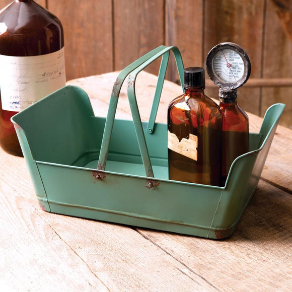 Metal Carrier with Handles - Countryside Home Decor