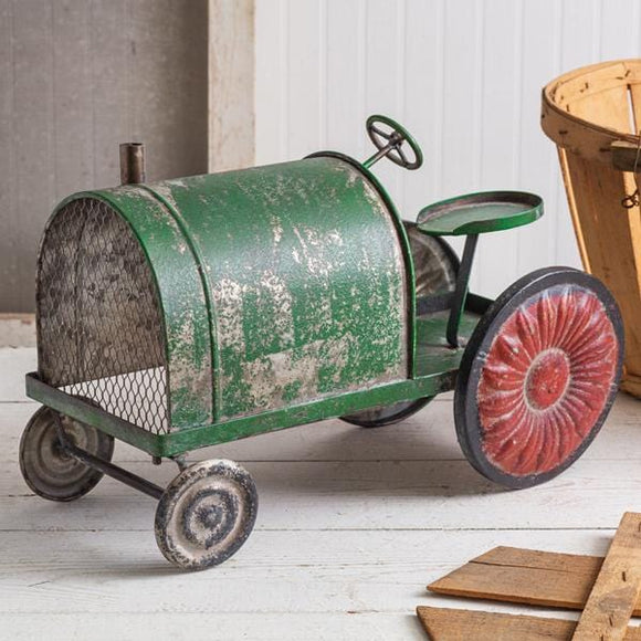 Rusty Green Tractor - Countryside Home Decor