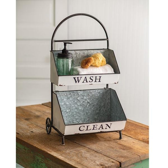 Wash and Clean Two-Tier Caddy - Countryside Home Decor
