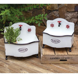 Set of Two Bath Sink Planters - Countryside Home Decor