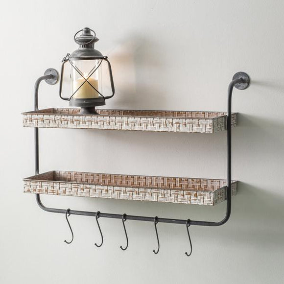 Basket Weave Wall Shelf - Countryside Home Decor