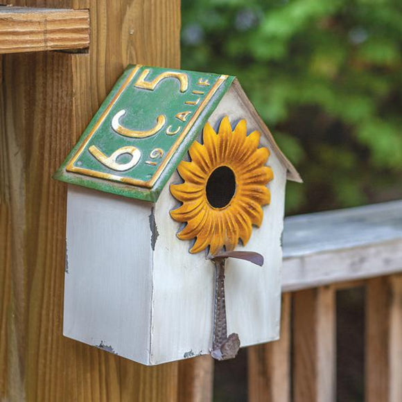 License Plate Birdhouse - Countryside Home Decor