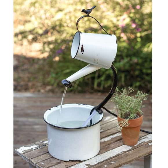 Water Pail Electric Fountain - Countryside Home Decor