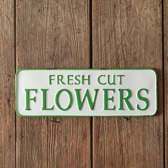 Fresh Cut Flowers Metal Wall Sign - Countryside Home Decor