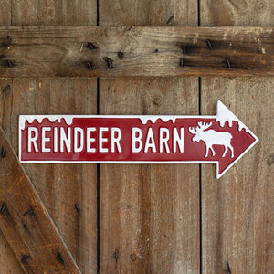 Reindeer Barn Wall Sign
