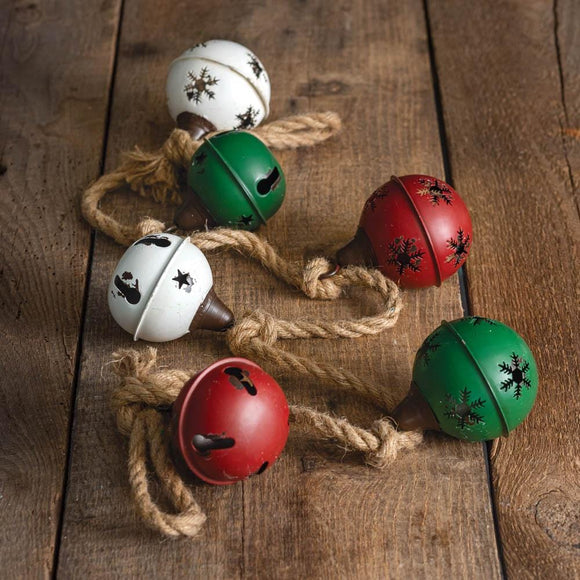 Holiday Bells and Jute Garland
