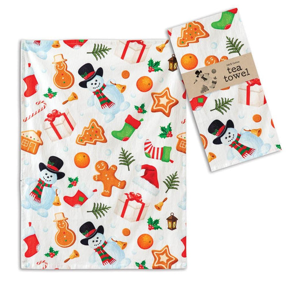 All Things Holiday Tea Towel - Box of 4