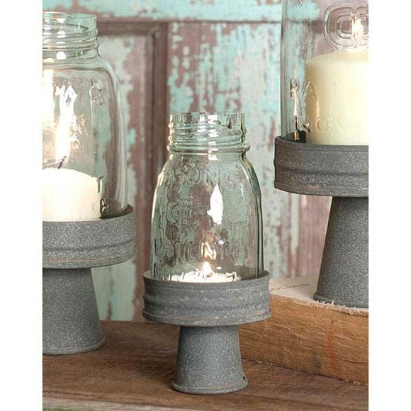 Mason Jar Chimney with Stand - Quarter Pint - Countryside Home Decor