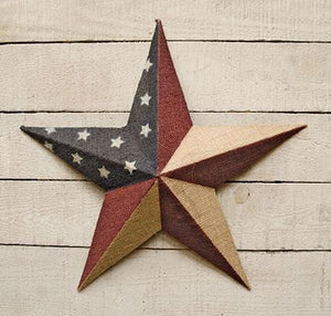 "Burlap Americana Star 18"" - Countryside Home Decor"