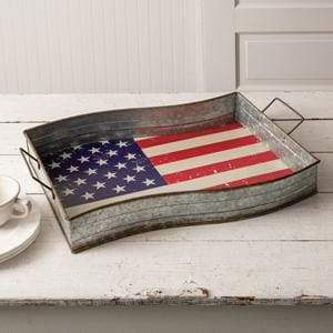 American Flag Serving Tray - Countryside Home Decor