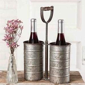Bottle Caddy with Handle - Countryside Home Decor
