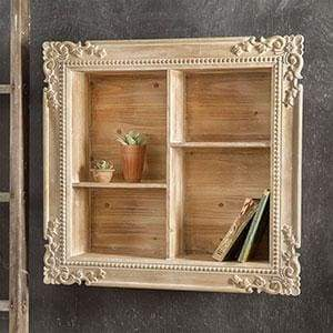 Carved Wood Shadow Box - Countryside Home Decor
