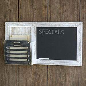 Chalkboard and Single Pocket Organizer - Countryside Home Decor