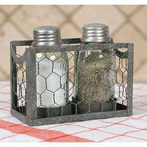 Chicken Wire Salt and Pepper Caddy - Box of 2 - Countryside Home Decor