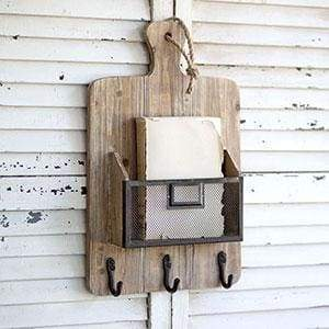 Cutting Board Basket with Hooks - Countryside Home Decor