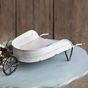 Decorative Tabletop Wheelbarrow - Countryside Home Decor