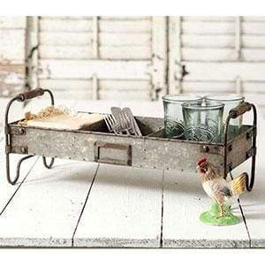 Divided Tray with Stand - Countryside Home Decor
