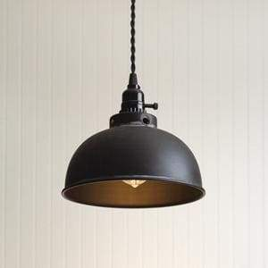 Dome Pendant Light - Black - Countryside Home Decor