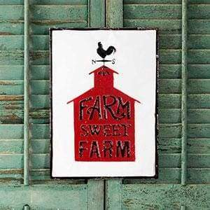 Farm Sweet Farm Metal Wall Sign - Countryside Home Decor