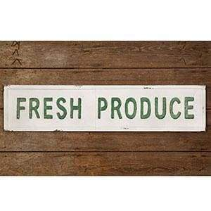Fresh Produce Metal Wall Sign - Countryside Home Decor