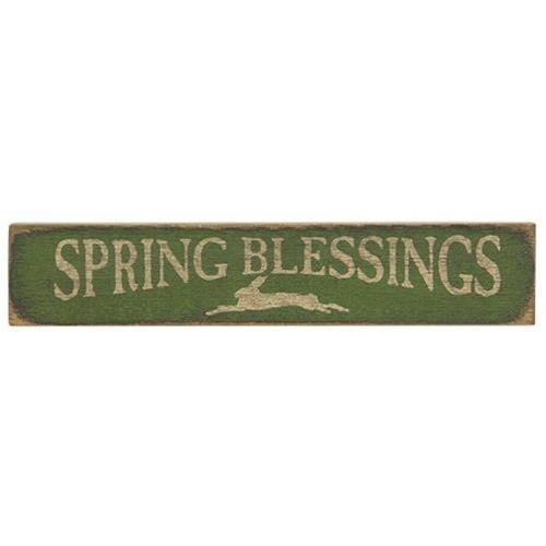 Green Spring Blessings Sign