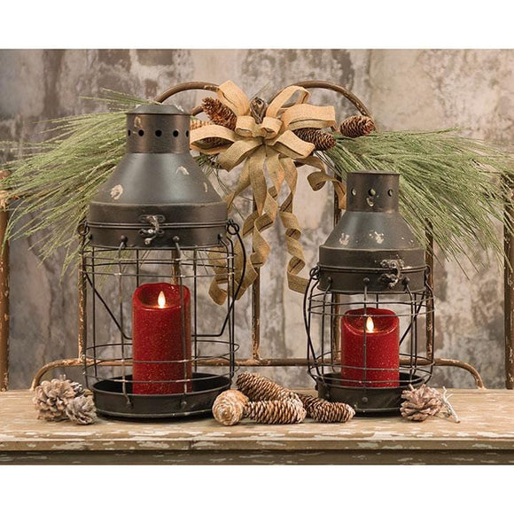 Set of two Railroad Lanterns - Countryside Home Decor