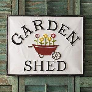 Garden Shed Metal Sign - Countryside Home Decor