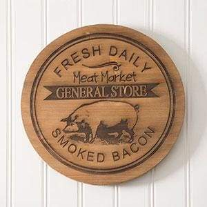General Store Wood Lazy Susan - Countryside Home Decor