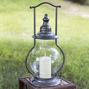 Gun Metal Steeple Lantern - Countryside Home Decor