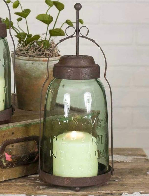 Half Gallon Mason Jar Butler Lantern - Countryside Home Decor