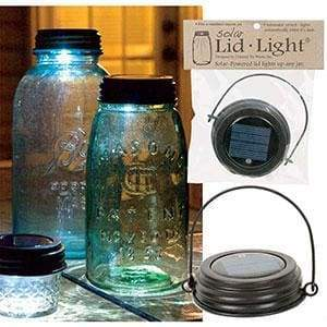 Hanging Solar Lid Light - Rustic Brown - Box of 4 - Countryside Home Decor