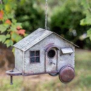 Happy Camper Metal Birdhouse - Countryside Home Decor
