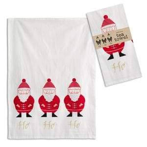 Ho Ho Ho Tea Towel - Box of 4 - Countryside Home Decor