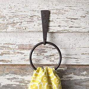 Iron Strap Towel Ring - Box of 2 - Countryside Home Decor