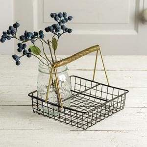 Kitchen Caddy with Gold Handle - Countryside Home Decor