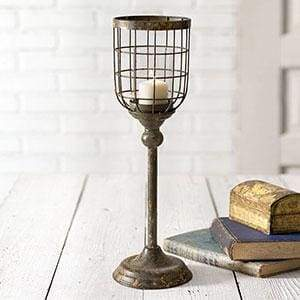 Large Distressed Candle Stand - Countryside Home Decor