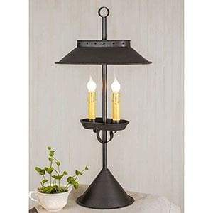 Large Double Candle Desk Lamp - Countryside Home Decor