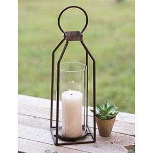 Large Greenville Pillar Candle Lantern - Countryside Home Decor
