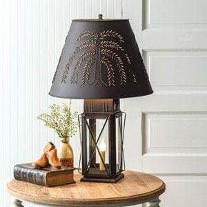 Large Milkhouse 4-Way Lamp with Shade - Countryside Home Decor