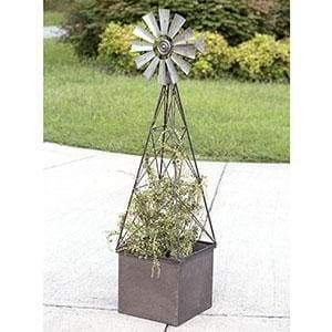 Large Windmill Planter - Countryside Home Decor