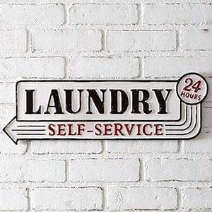 Laundry Metal Sign - Countryside Home Decor