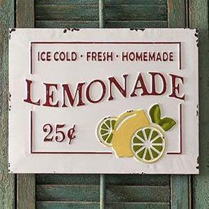 Lemonade Metal Sign - Countryside Home Decor