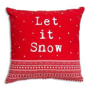 Let it Snow Cotton Throw Pillow - Countryside Home Decor